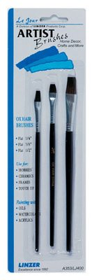 Linzer Touch-Up Set Professional Grade Ox Hair 3 Piece 1/4 '' by Linzer Products