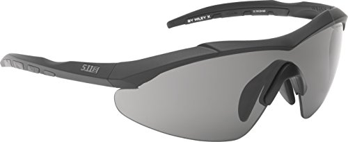 5.11 Tactical 52058-920-1 SZ Aileron Shield Sunglass Kit, Matte Black Frame, Smoke/Clear/Ballistic Orange - 5.11 Sunglasses
