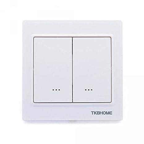 Interruptor doble regulador Z-Wave Plus, blanco – TKB Home