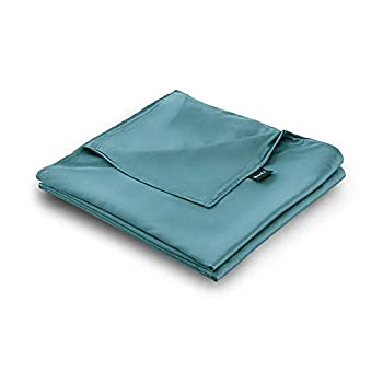 Image of ZonLi 48''x72'' Blue Cooling Bamboo Duvet Cover for Summer, Removable Twin Size Duver Covers for Weighted Blankets ZonLi B07BF7VHHK Weighted Blankets