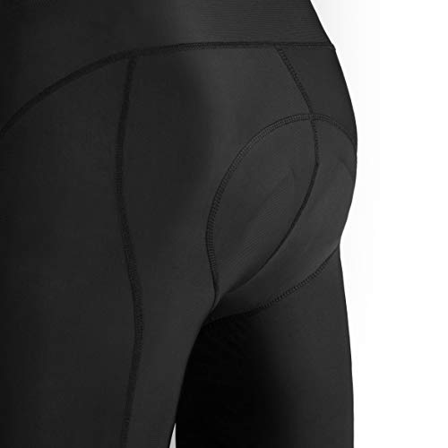 Przewalski Men's Cycling Bib Shorts, 4D Padded Compression Bike Tights Breathable Bicycle Pants UPF 50+, Classic Series, Black/XL by Przewalski (Image #8)