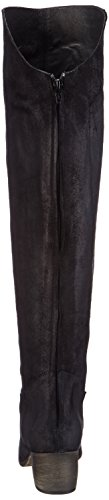 Mentor Over Knee Damen Over-Knee Stiefel Schwarz (Black waxed Suede)