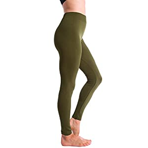 6-Pack Fleece Lined Thick Brushed Leggings Thights by Homma (XL/XXL, Black x2/Olive/Burgundy/Navy/Grey)XLarge/XXLarge