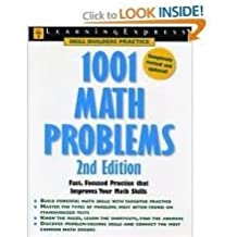 1001 Math Problems 2nd (second) Edition byEditors