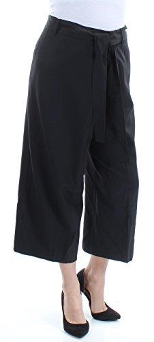 - Anne Klein Women's Wide Leg Tie Front Pant, Black, 10