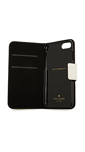 Kate Spade New York Leather Wrap Folio iPhone 7 Case / 8 Case, Cement/Tusk, iPhone 7 by Kate Spade New York (Image #3)