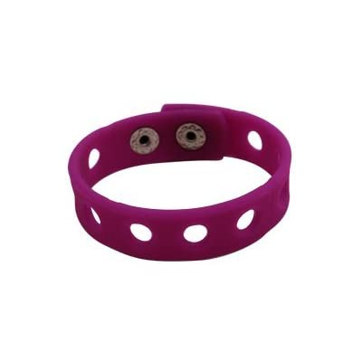 9 Colors 7 Inch Wristbands Silicon Bracelets for Kid Party Gifts croc and shoe Charms: Kitchen & Dining