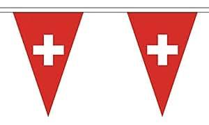 The Flag B147772 Wholesaler - Banderines triangulares de Suiza, multicolor, 24 x 1 x 23 cm