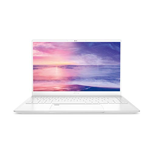 "MSI Prestige 14 A10SC-051 White 14"" Ultra Thin and Light Professional Laptop Intel Core i7-10710U GTX1650 MAX-Q 16GB DDR4 512GB NVMe SSD Win10Pro"