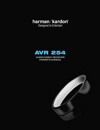 Harman Kardon AVR-254 AV Receiver Owners Manual [Plastic Comb] [Jan 01, 1900]... - Harman Kardon Manuals