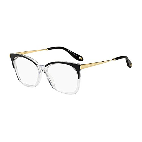 Givenchy GV 0062 7C5 Black Crystal Plastic Rectangle Eyeglasses - Frames Givenchy