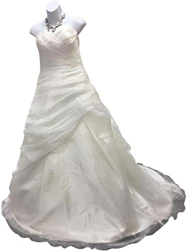 AnnaLisa Spose Ivory Organza Size 6-8 Wedding Dresses for sale  Delivered anywhere in USA