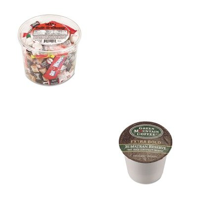 KITGMT4060OFX00013 - Value Kit - Green Mountain Coffee Roasters Fair Trade Organic Sumatran Extra Bold Coffee K-Cups (GMT4060) and Office Snax Soft amp;amp; Chewy Mix (OFX00013)