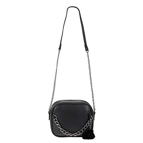 cadena de la del la Crossbody Pequeña bolso de cuero de con las diseñador mujeres PU las hombro del de de las bolso Negro mujeres del fe Aprigy bolsos la de del mensajero de del juguete mujeres bola bolso AY5nRfqq1