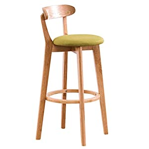 SACKDERTY-stool-Modern-Barstools-Solid-Wood-Counter-Chair-with-Upholstered-Seat-and-High-Back-Detachable-Cloth-Cover-Wood-Legs-and-Round-Footrest-Dining-Chair-for-Cafe-Restaurant-Kitchen
