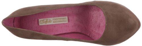 Buffalo London 9669-177 - Zapatos clásicos de ante para mujer Beige