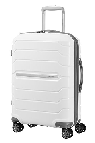 (SAMSONITE Flux - Spinner 55/20 Expandable Hand Luggage, 55 cm, 44 liters, White)