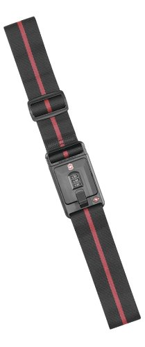 Victorinox Travel Sentry Approved Lockable Luggage Strap,Black,One Size