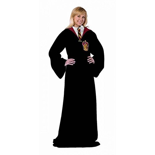 Harry Potter, Hogwarts Rules Adult Comfy Throw Blanket with Sleeves, 48