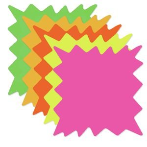Large Fluorescent Starburst Signs 8 x 8 Pack of (Starburst Signs)