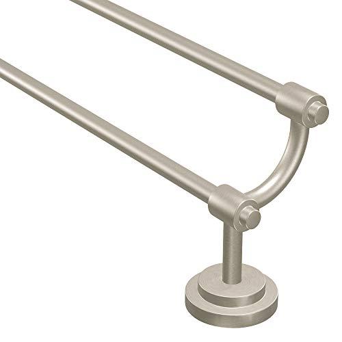 Moen DN0722BN Iso 24-Inch Double Towel Bar, Brushed Nickel
