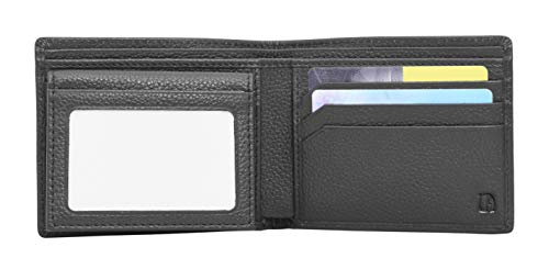 Detachable Id Window - V-élan Men's Leather Bill Fold Wallet with Detachable Flapover ID Window 4.5