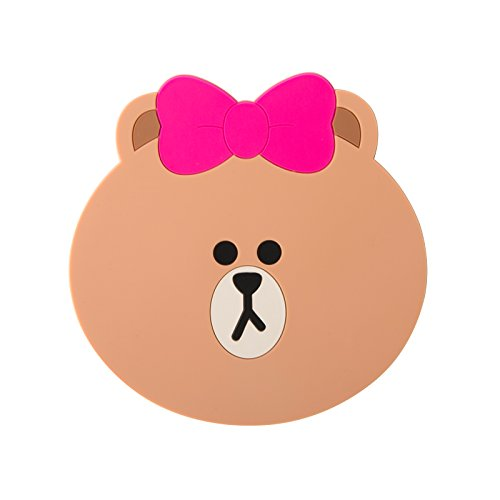 LINE FRIENDS Choco Two-Face Silicon Coaster One Size Brown (Adult Twoface Costume)