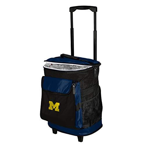 Logo Brands 171-57 NCAA  Michigan Wolverines Rolling Cooler