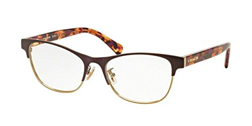 COACH Eyeglasses HC 5074 9241 Satin Purple Gold/Purple Confetti - Coach Frames Womens