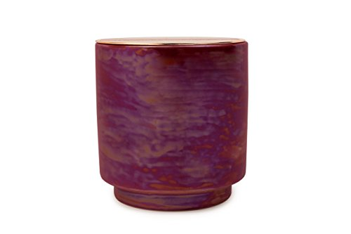 Paddywax Candles Glow Collection Scented Soy Wax Blend Candle in Iridescent Ceramic Pot, Medium- 17 Ounce, Cranberry & Rosé