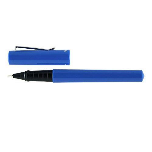 Itoya SK-100-BU Paperskater Gel Rollerball Pen 0.7mm Medium Point Black Ink Blue