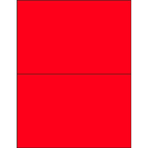 Ship Now Supply SNLL415RD Tape Logic Removable Rectangle Laser Labels 8 1/2 x 5 1/2 Fluorescent Red (Pack of 200) (Removable Labels Rectangle)