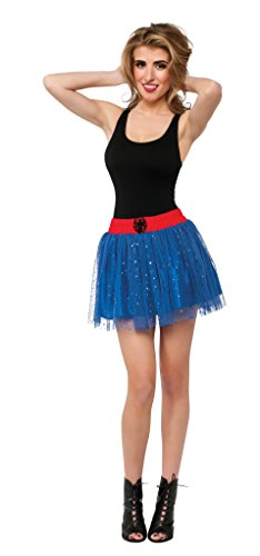 Spider Costume For Adults (Rubie's Costume Women's Marvel Universe Adult Spider-Girl Fancy Skirt, Multi, One Size)