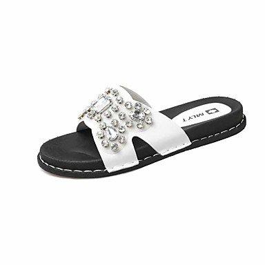Unisex Zapatos Tela Verano Confort Zapatillas y flip-flops Negro / Rojo / Verde 6090WUx