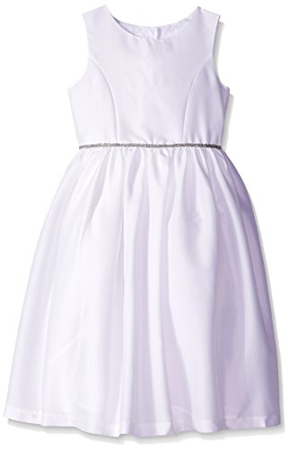 Price comparison product image Pippa & Julie Big Girls' Shimmer Flower Girl Dress, White, 8
