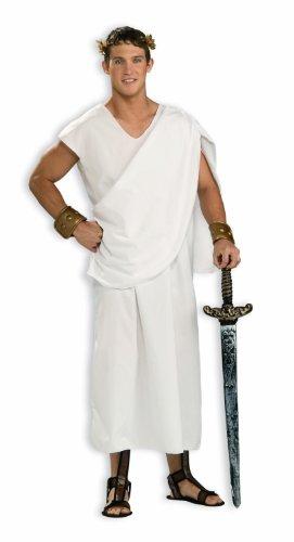 [Forum Novelties Costume Toga, White, Standard] (Roman God Costumes)