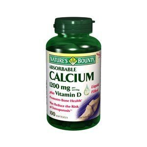 Calcium Natures Bounty Coral (NATURES BOUNTY CALCIUM 1200MG + D ABSORB 100SG by Nature's Bounty)