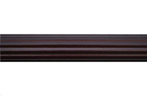 1-3/8 inch Wood Fluted Drapery Rod in Mahogany Finish - 8' long