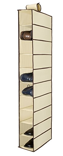 Ziz Home Cloth Shoe Organizer, Hold Many Pairs of Shoes, Additional Hanging Shelves, Footwear, Accessories & Miscellaneous Clothing, Tough Breathable Fabric, Anti-mold, Moisture-free 30 x 15 x - Clothing Footwear