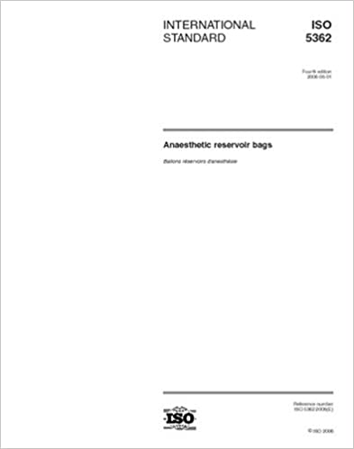 Book ISO 5362:2006, Anaesthetic reservoir bags