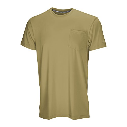 Arctic Cool Men's Pocket Workwear Instant Cooling Shirt with UPF 50+ Sun Protection, Olive, XXL by Arctic Cool