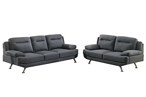 Chrome Set Loveseat - 6