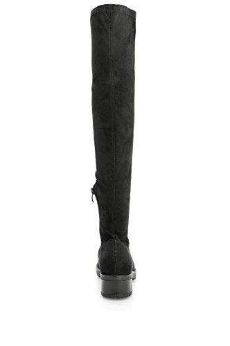 Alx Trend Chaussures femme Cuissardes en daim Grecia - Noir