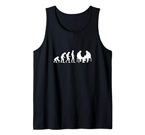 Evolution Humor Funny Chess Player Cool Chess Day Lover Gift Tank Top (Best Chess App Android 2019)