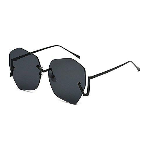 Conduce Unisex Que Aire Black SunglassesDY de Ultravioleta al de Protección Gran Sol Irregular Deporte Libre la sin Tamaño Black Color Dongy Marco Gafas aawCIqZxFA