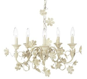 5 Light Incandescent Chandelette (DO NOT SET LIVE!5 Light Leaf and Flower Chandelier)