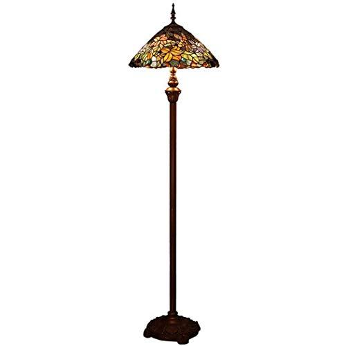 Lámpara de pie de estilo Tiffany, lámpara de pie de vidrio ...