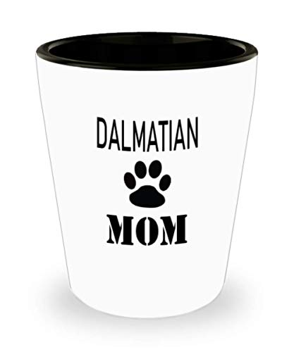 White Ceramic Shot Glass Gift For Dalmatian Owner Personalize Dog Mug Custom Pet Mug Dog Mom Mug For Dog Lovers,al1630