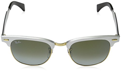 RB Ban ALUMINUM Ray Sonnenbrille 3507 CLUBMASTER Negro wxBgng