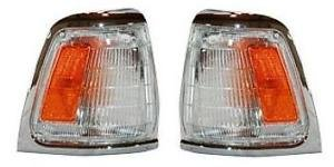 - 89 90 91 Toyota Truck (2wd Only) Cornerlamp Cornerlight (with Chrome Trim) Pair Set Both Driver and Passenger NEW 81620-89177 81610-89177 TO2520122 TO2521124